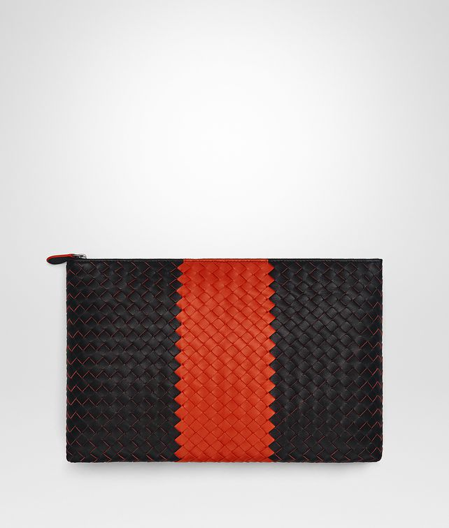 BOTTEGA VENETA NERO INTRECCIATO LAMB CLUB POUCH Other Accessories E fp