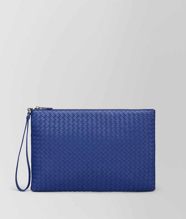 BOTTEGA VENETA COBALT INTRECCIATO NAPPA MAXI POUCH Other Leather Accessory E fp