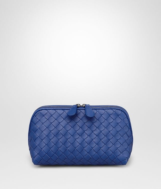 BOTTEGA VENETA COBALT INTRECCIATO NAPPA COSMETIC CASE Other Leather Accessory Woman fp