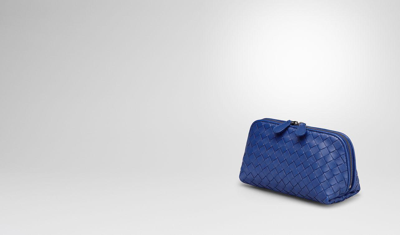 cobalt intrecciato nappa cosmetic case landing