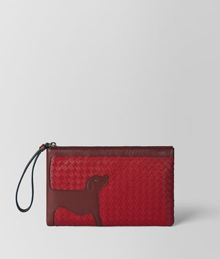 CHINA RED NERO NAPPA MEDIUM DOCUMENT CASE