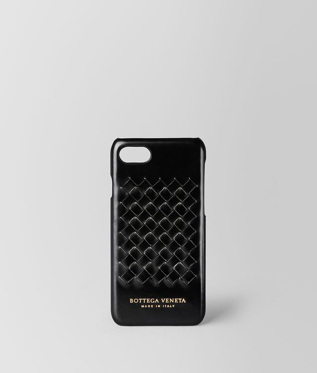 BOTTEGA VENETA NERO METAL BRUSH CALF IPHONE 7 CASE Tech Accessory E fp