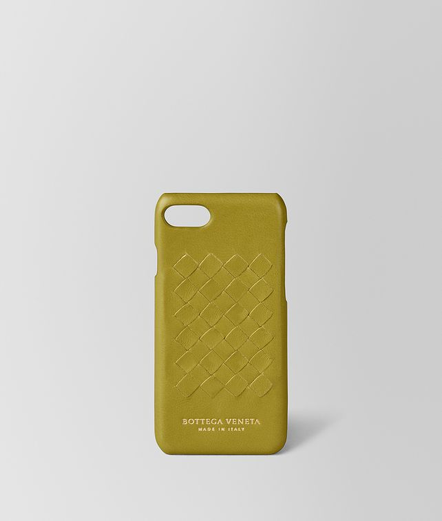 BOTTEGA VENETA CUSTODIA IPHONE 7 IN SOFTLUX VITELLO CHAMOMILE Accessorio hi-tech E fp
