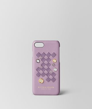 CUSTODIA IPHONE 7 IN NAPPA INTRECCIATO PALIO PARME LILAC
