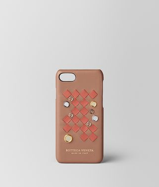 IPHONE 7 CASE IN NAPPA INTRECCIATO PALIO DAHLIA HIBISCUS