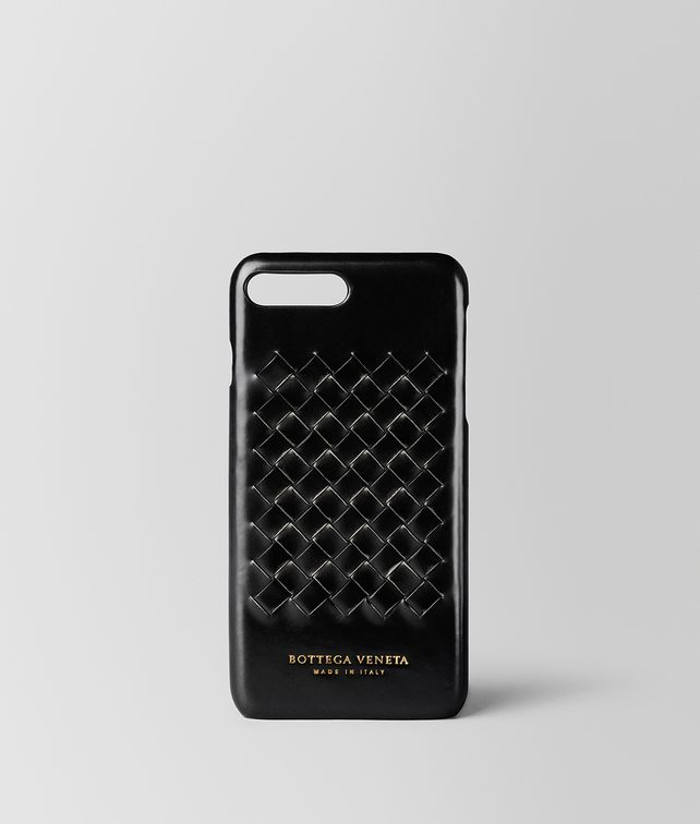 BOTTEGA VENETA NERO METAL BRUSH CALF IPHONE 7 PLUS CASE Tech Accessory E fp