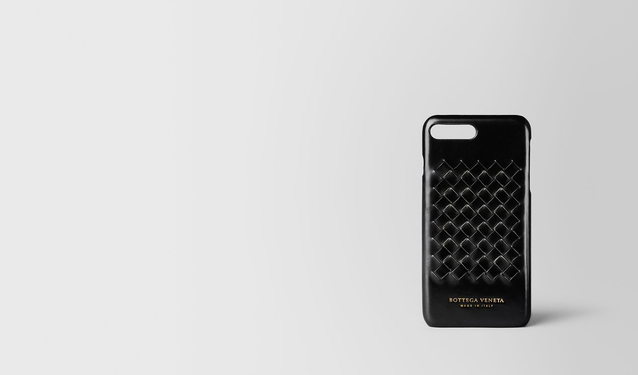custodia iphone 7 plus in agnello intrecciato club tourmaline landing
