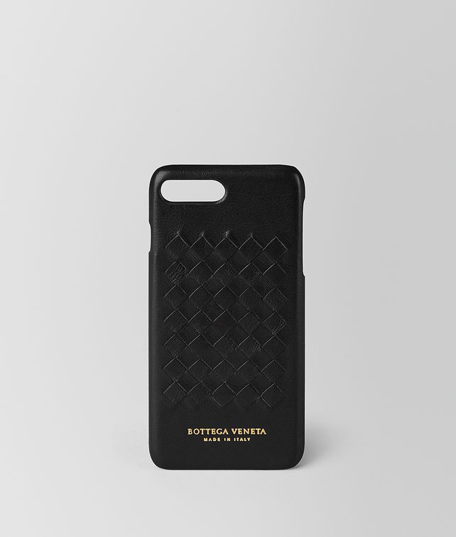 BOTTEGA VENETA CUSTODIA IPHONE 7 PLUS IN SOFTLUX VITELLO NERO Accessorio hi-tech E fp