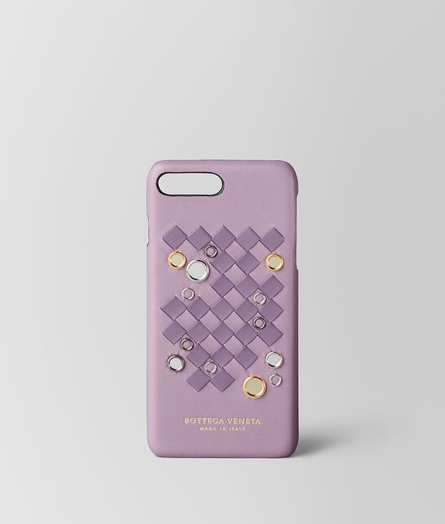 BOTTEGA VENETA PARME LILAC INTRECCIATO PALIO IPHONE 7 PLUS CASE Tech Accessory E fp