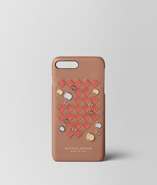 CUSTODIA IPHONE 7 PLUS IN AGNELLO INTRECCIATO CLUB TOURMALINE