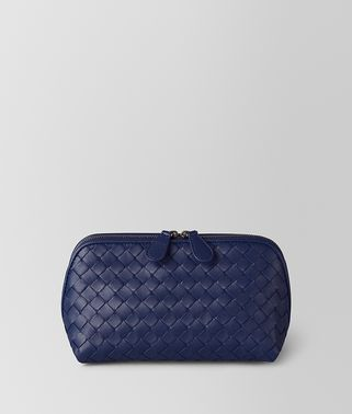 ATLANTIC INTRECCIATO NAPPA COSMETIC CASE