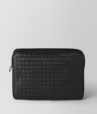 NERO INTRECCIATO CALF/HI-TECH CANVAS BEAUTY CASE