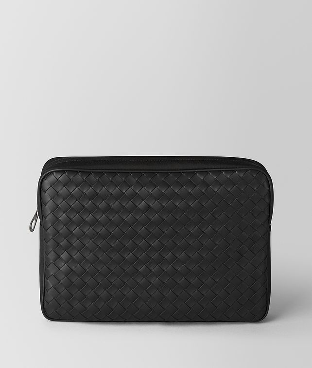 BOTTEGA VENETA NERO INTRECCIATO CALF/HI-TECH CANVAS BEAUTY CASE Other Leather Accessory Man fp