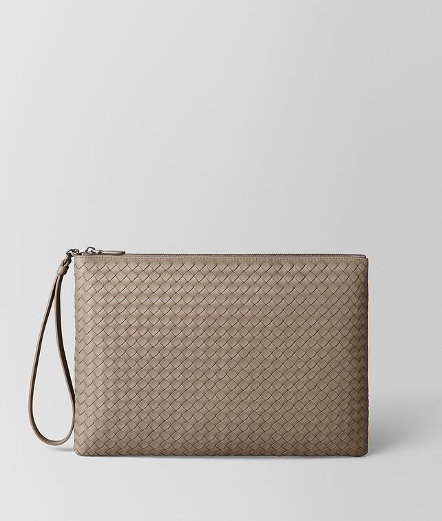 BOTTEGA VENETA LIMESTONE INTRECCIATO NAPPA BILETTO Pouch and case E fp