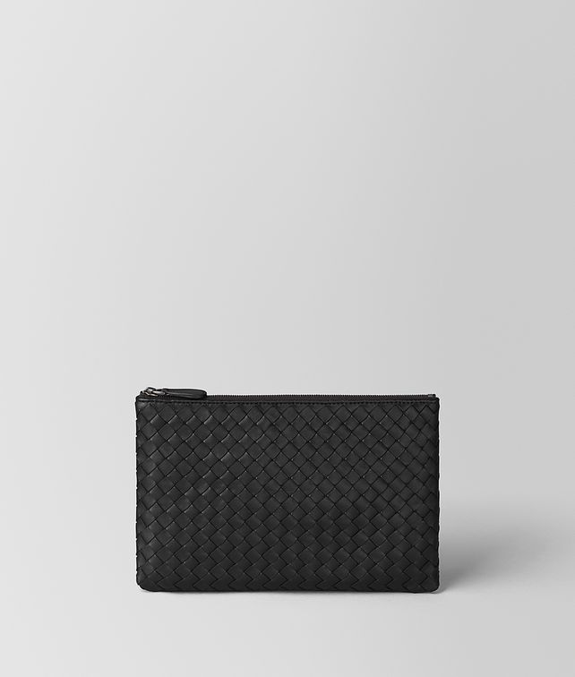BOTTEGA VENETA NERO INTRECCIATO NAPPA BILETTO Pouch and case E fp