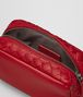 china red intrecciato nappa cosmetic case Front Detail Portrait