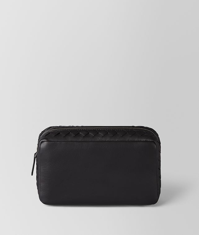 BOTTEGA VENETA NERO INTRECCIATO NAPPA COSMETIC CASE Other Leather Accessory Woman fp