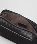 nero intrecciato nappa cosmetic case Front Detail Portrait