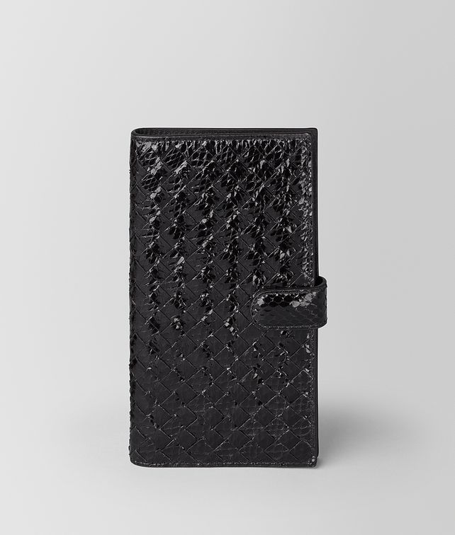 BOTTEGA VENETA NERO AYERS/INTRECCIATO NAPPA HIGH-TECH CASE Tech Accessory E fp