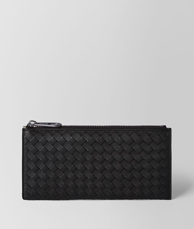 BOTTEGA VENETA NERO/CEMENT INTRECCIATO NAPPA MULTI-FUNCTIONAL CASE Pouch [*** pickupInStoreShippingNotGuaranteed_info ***] fp