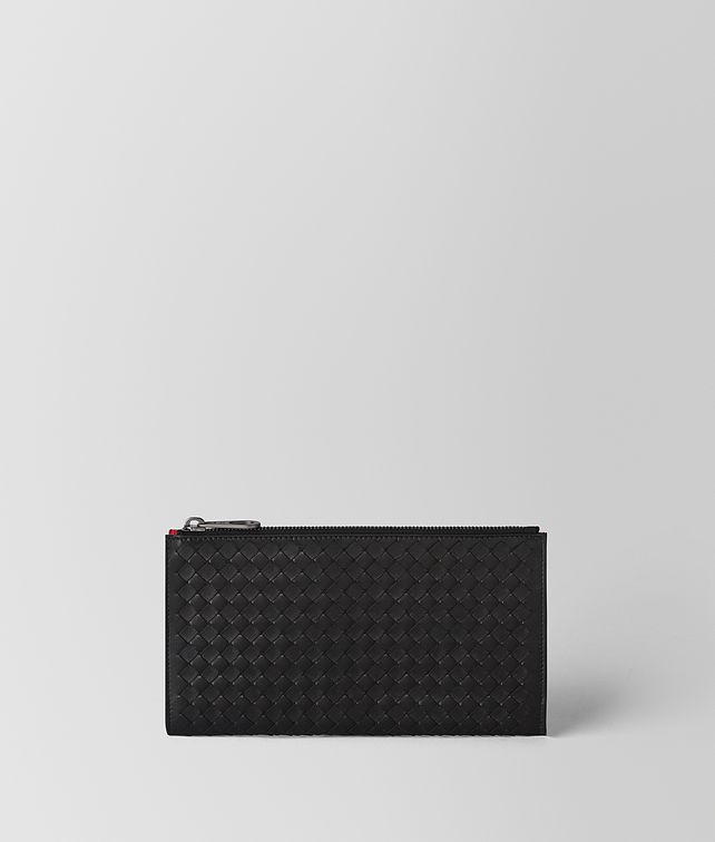 BOTTEGA VENETA NERO/CHINA RED INTRECCIATO NAPPA MULTI-FUNCTIONAL CASE Other Leather Accessory Man fp