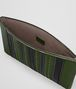 BOTTEGA VENETA FOREST/NERO NAPPA TECH STRIPE POUCH Other Leather Accessory Man ap