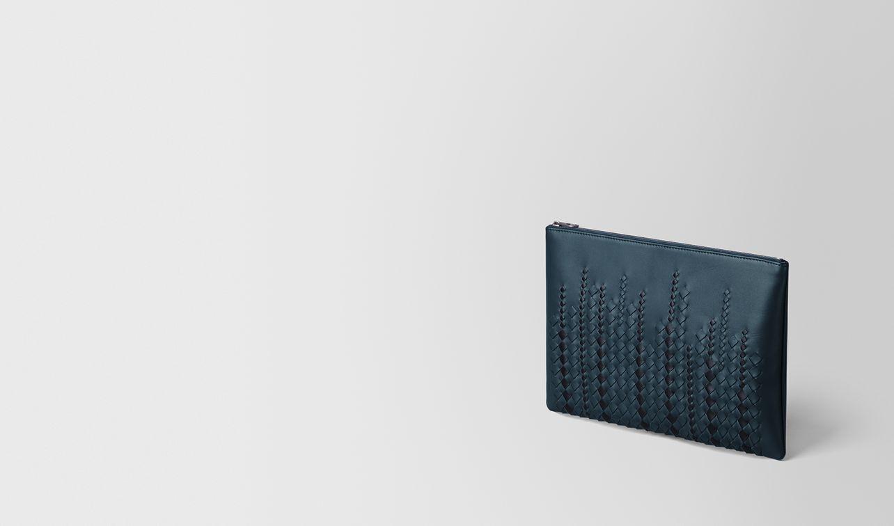 denim/tourmaline nappa pouch landing