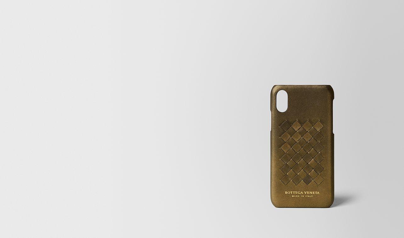 dark gold intrecciato nappa high-tech case landing