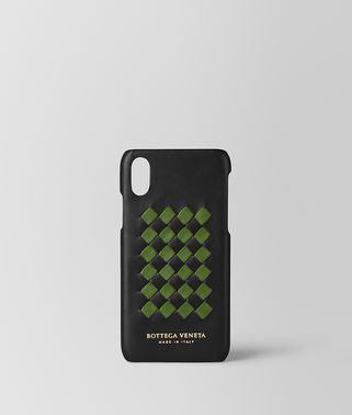 NERO/FERN INTRECCIATO CHECKER HIGH-TECH CASE
