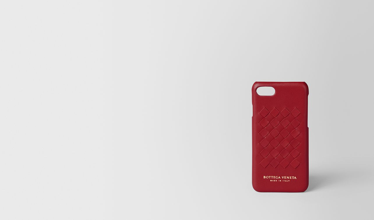 china red intrecciato nappa high-tech case landing