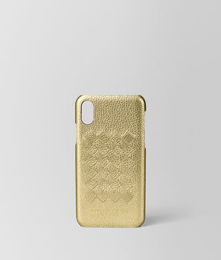 HIGH-TECH CASE IN METALLIC CALF