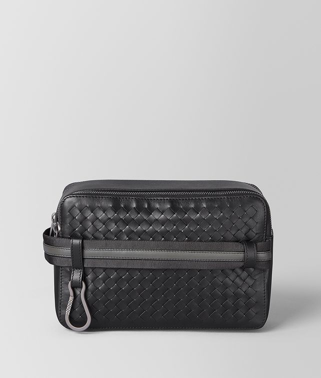 BOTTEGA VENETA TOILETRY CASE IN INTRECCIATO VN AND NAPPA Pouch Man fp