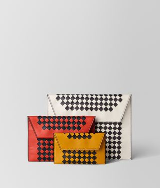 SET DI POCHETTE IN INTRECCIATO CHECKER