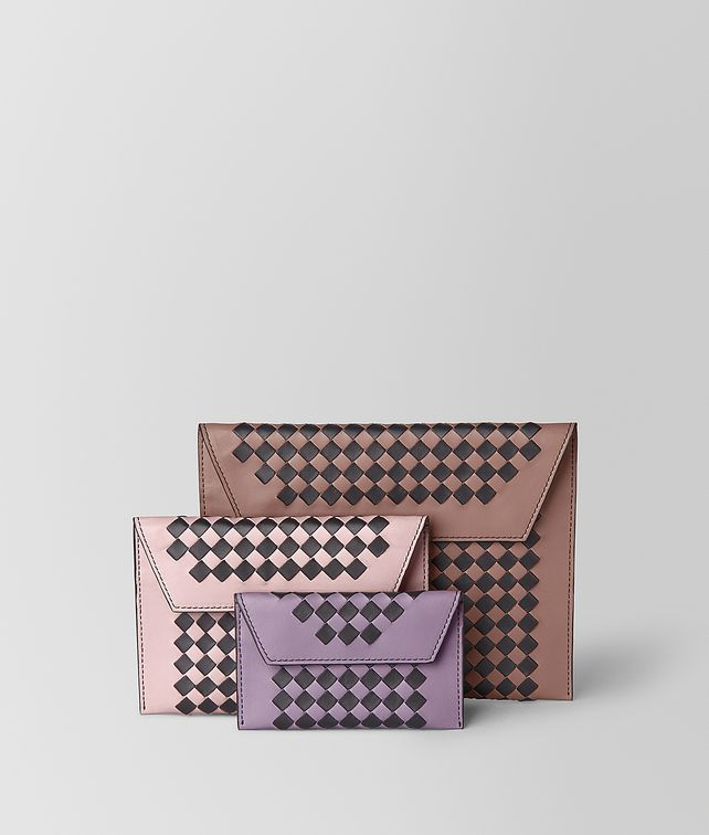 BOTTEGA VENETA MULTIPOUCH IN INTRECCIATO CHECKER Pouch E fp