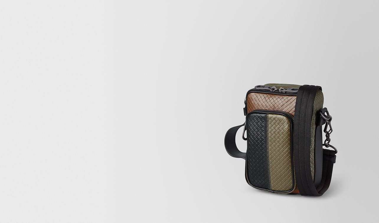 multi-functional case in micro-intrecciato embossed  landing
