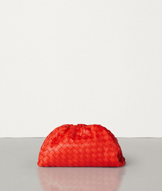 BOTTEGA VENETA THE POUCH 20 IN VELVET CALF INTRECCIATO LEATHER Mini Bag and Pouche Woman fp