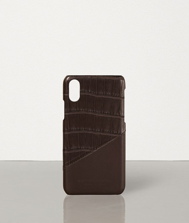 BOTTEGA VENETA IPHONE X/XS CASE IN ALLIGATOR AND CALFSKIN Other Accessories Man fp