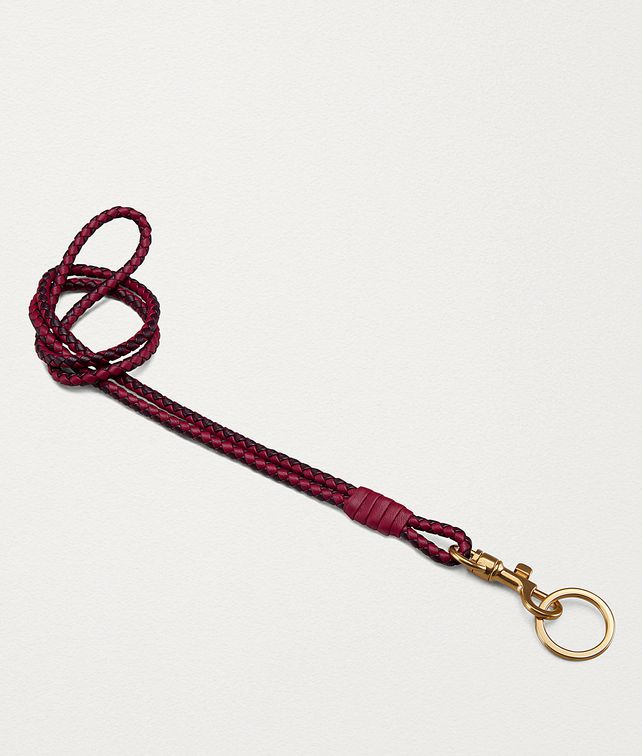BOTTEGA VENETA KEY HOLDER IN BICOLOUR INTRECCIATO NAPPA Other Accessories Woman fp