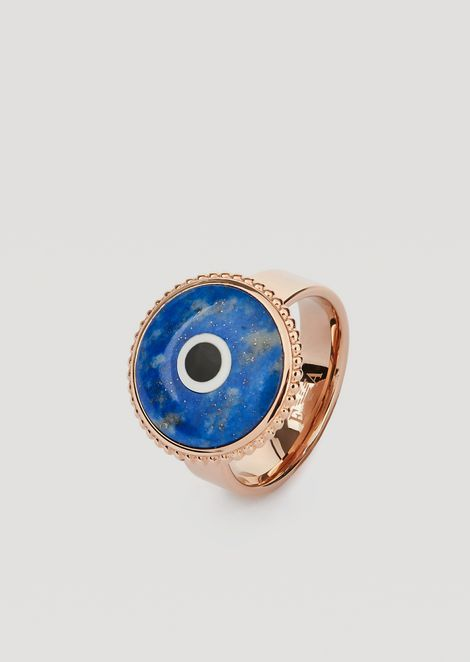 Stainless Steel Eyes on the World Ring