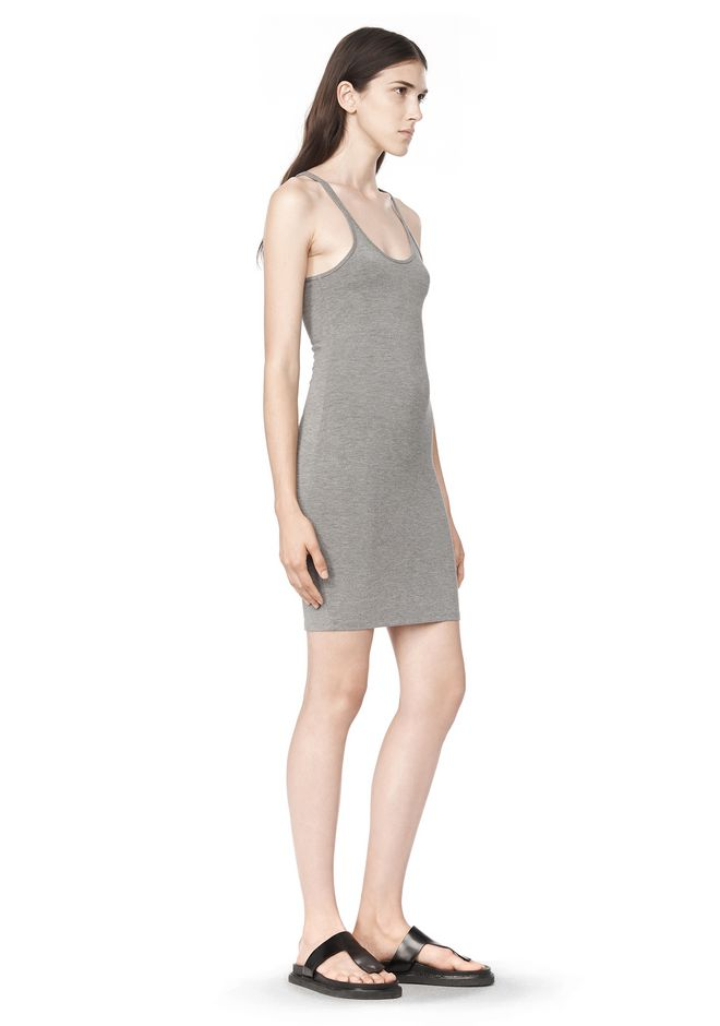 T by ALEXANDER WANG MODAL SPANDEX CAMI TANK DRESS Short Dress Adult 12_n_a