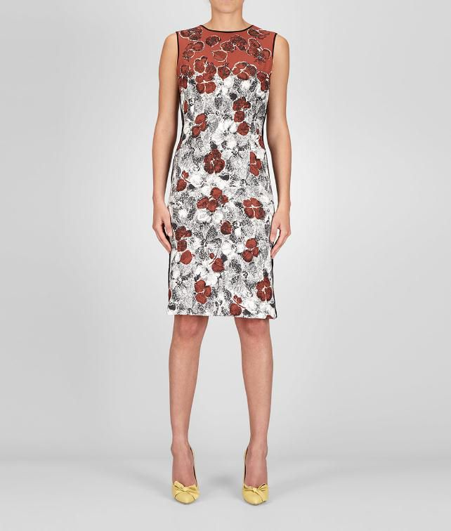 BOTTEGA VENETA Studded Silk Primerose Print Dress Dress D fp