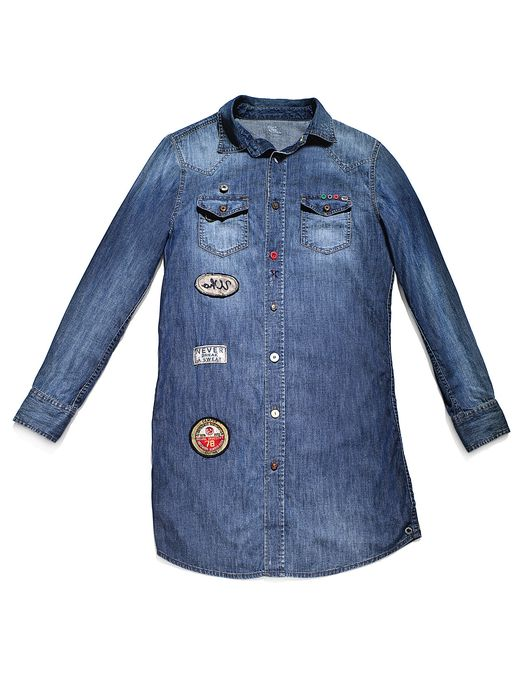 DIESEL REBOOT-DENIM-SHIRT-D Dresses D f