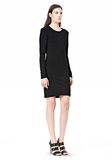 T by ALEXANDER WANG MATTE JERSEY LONG SLEEVE DRESS WITH OPEN BACK Short Dress Adult 8_n_e