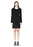 T by ALEXANDER WANG MATTE JERSEY LONG SLEEVE DRESS WITH OPEN BACK Short Dress Adult 8_n_f