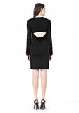 T by ALEXANDER WANG MATTE JERSEY LONG SLEEVE DRESS WITH OPEN BACK Short Dress Adult 8_n_r