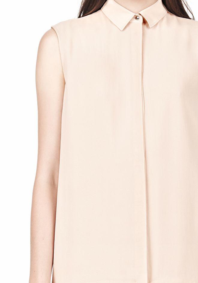T by ALEXANDER WANG SILK CHFFON OVER CDC SHIRT DRESS 3/4 length dress Adult 12_n_a