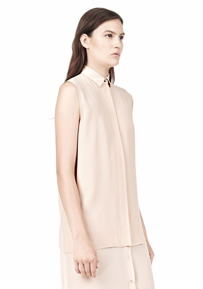 T by ALEXANDER WANG SILK CHFFON OVER CDC SHIRT DRESS 3/4 length dress Adult 12_n_d