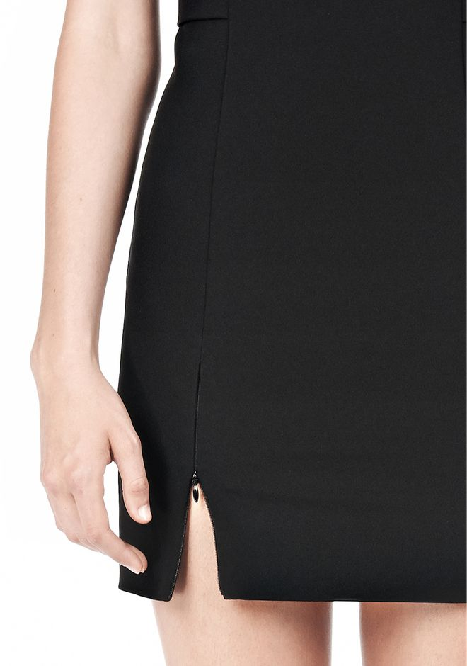 T by ALEXANDER WANG TECH SUITING FITTED DRESS Short Dress Adult 12_n_d