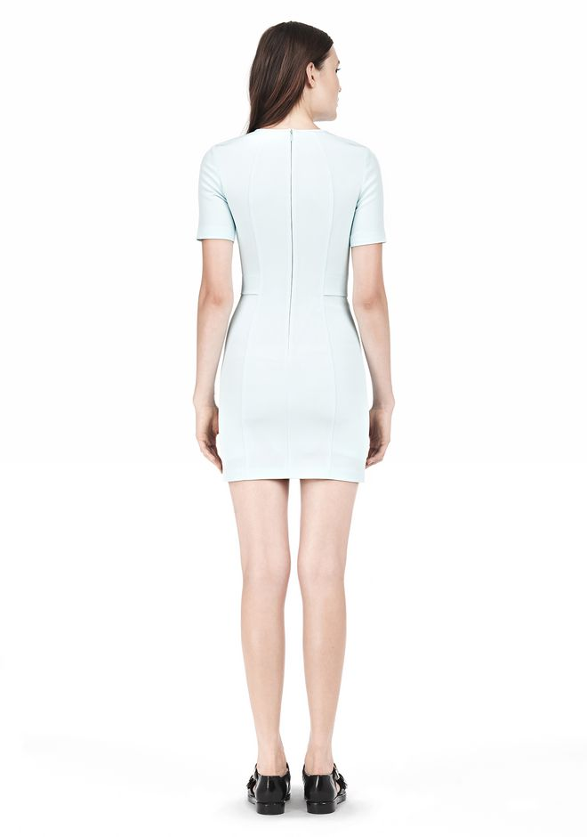 T by ALEXANDER WANG TECH SUITING FITTED DRESS Short Dress Adult 12_n_r