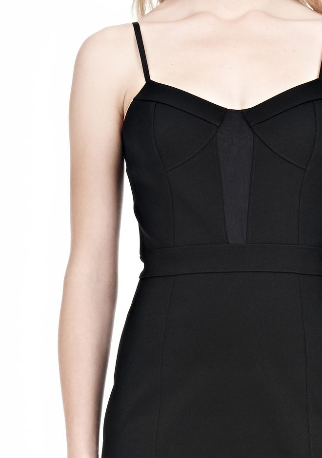 ALEXANDER WANG BUSTIER DRESS WITH CENTER MESH PANEL Short Dress Adult 12_n_d